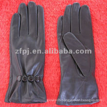 stylish brown deerskin ladies winter leather glove