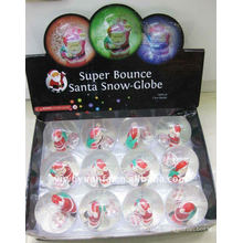 New Design Christmas Santa Hi Glitter Bouncing Ball