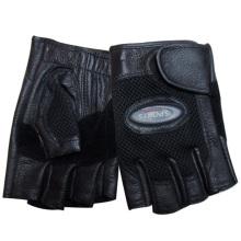 Мужская мода без пальцев овчины кожаные спортивные перчатки (YKY5021)