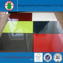 1220 * 2440mm Pur Couleur UV 16mm MDF avec Haute Qualité