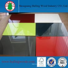 1220 * 2440mm Pure Color UV 16mm MDF com Alta Qualidade