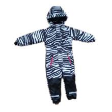 Zabra encapuzado reflexivo macacão impermeável para bebê/crianças