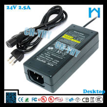 24V 2.5A DC ADAPTER для POS-системы с CE UL / cUL GS FCC