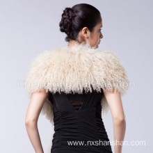 20 Years manufacturer for China Mongolian Fur Long Scarf,Mongolian Real Fur Scarf,Mongolian Lamb Fur Scarves Manufacturer Custom Black Mongolian Lamb Fur Scarf Shawl supply to Mauritania Manufacturers