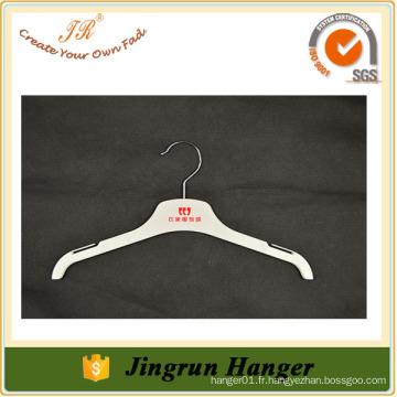 Petits vêtements blancs personnalisés en plastique Cintres en plastique