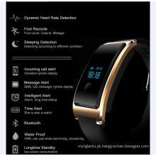 À prova d 'água USB embutido Wechat Interconexão Heatrate Monitor O Monitoramento do sono Bluetooth Super-Long Standby Smart Watch com Monitor de Freqüência Cardíaca