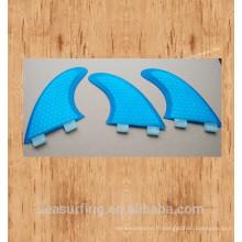 Nouvelle saison bleu hexagonal en vedette les palmes de conception de beauté de base FCS / FCS II sur les planches de surf