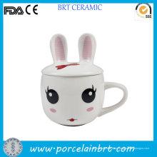 Niedlicher Kaninchen-Entwurfs-Kindergeschenk-Keramik-Baby-Cup