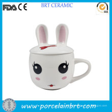 Cute Rabbit Design Kids Gift Ceramic Baby Cup