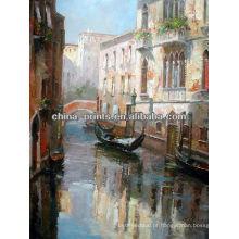 Pintura famosa da lona da rua de Veneza para a decoração Home