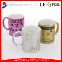 Stoneware Spraying taza de cerámica con recubrimiento y la calcomanía de impresión
