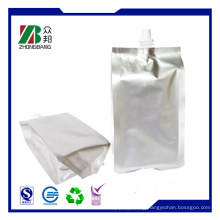 Silver Stand up Plastic Resealable Packaging Bag for Juice