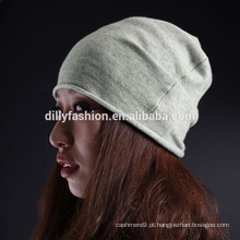 Unisex custom 100% cashmere roll design knit CC beanie hat