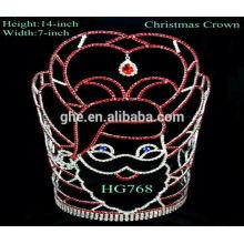 Diadème de saphir en gros design de mariée chandelier à perles blanches couronnes suédoises de couronnes en métal à bas prix