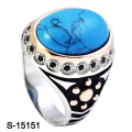 New Arriaval Fashion Jewellery Ring Silver 925 with Turquoise Stone