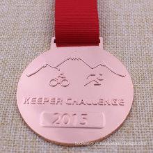 Medalha personalizada do ciclismo do medalhão do funcionamento do metal para o Triathlon