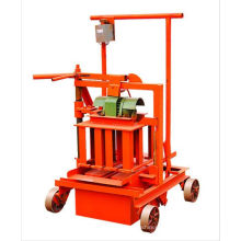 QM2-45 small electric mobile manual hollow block making machine