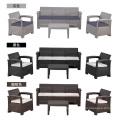 5-Sitzer (4. Alter) Outdoor-Kunststoff-Sitzgruppe
