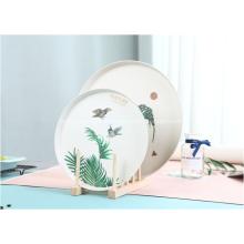 Placas redondas de bambú Diseño de placa de plástico