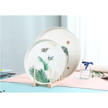 Круглые бамбуковые тарелки
