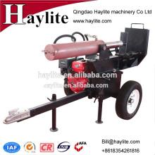 Motor Diesel de 37 toneladas, divisor de madera de registro hidráulico automático horizontal y vertical