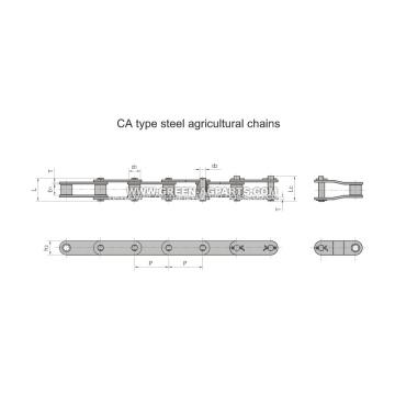 Eine Art Stahl landwirtschaftliche Ketten
