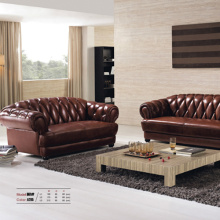 321 Chesterfield Brown Leather Sofa Set Design