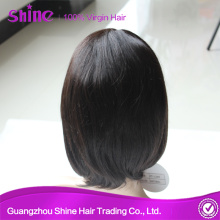 Machine-made 100% Virgin Straight Bob Lace Wig