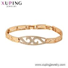 75810 xuping 18k banhado a ouro luxo estilo moda charme pulseira para as mulheres