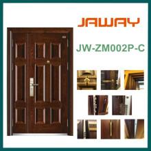 Porte blindée en acier de sécurité d'épissure, meilleure porte en acier de qualité
