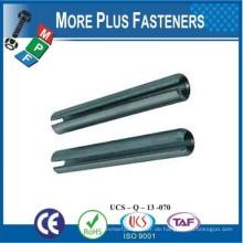 Made in Taiwan Klar Zink Finish Stahl Schlitz Frühjahr Zug Pin
