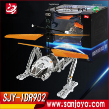 2.5CH helicopter rc IDR902 hovering mode with light from the movie quadcopter