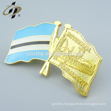 Promotion souvenir gift custom gold flag pins for Botswana