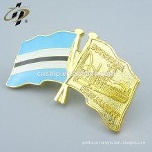 Presente da lembrança da promoção pinos da bandeira de ouro personalizado para Botswana