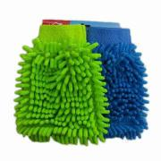 Chenile handschoen, 100% Polyester met Microfiber kant, 80% Polyester, 20% Polyamide op rug