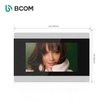 """Bcom 4-Wire 7"""" LCD Touch Button Monitor and IR Night Version Doorbell Camera , Monitoring Video Door Phone kit"""