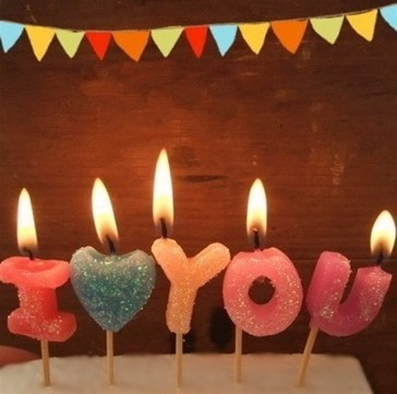 letter birthday candles
