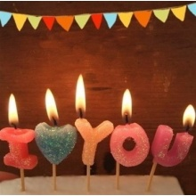 I Love You Letter Birthday Candle