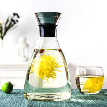 High Borosilicate Glass Large Capacity Non-Electric Glass Cooling Water Kettle with Ss Materials Cap