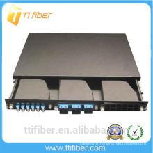 1U 19'Rack monté sur rack montage en fibre pour 3pcs MPO Cassettes