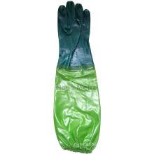 NMSAFETY длинные рукава ПВХ анти-химической перчатки