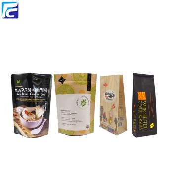 Plastic Packaging Doypack Kraft Paper Bag