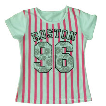 Beautiful Kids Girl Stripe T-Shirt in Children′s Clothes Sgt-048