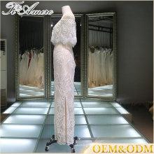 Panyu ice cream white halter elegant ball gown night evening dress
