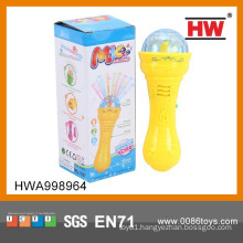New Design Plastic Cartoon Kids Wireless Microphone With Light And Music