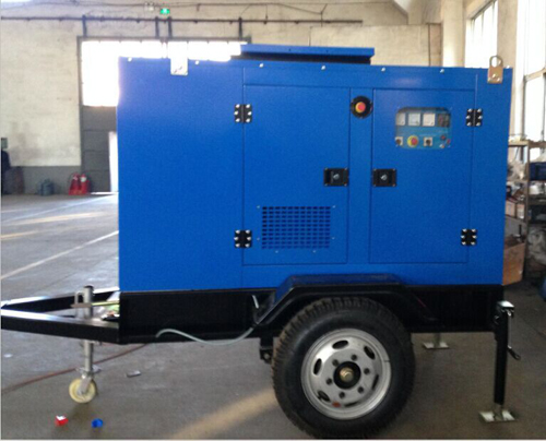 2 Wheels 15KW Mobile Trailer Generator Sets