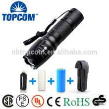 G700 X800 Super Bright XM-L T6 Lampe de poche tactile de zoom LED avec 18650 ou 26650