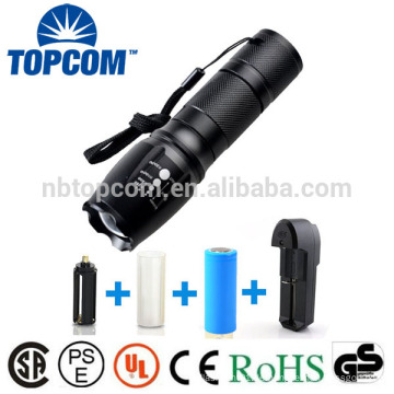 G700 X800 Super Bright XM-L T6 LED Zoom Taktische Taschenlampe mit 18650 oder 26650