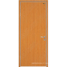 Porte intérieure en bois de chêne, portes de sécurité intérieures, portes de placage intérieures en bois