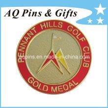 Insignia de metal dorado con imitación de cloisonné (badge-058)